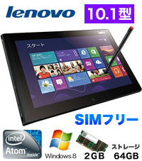 ThinkPad Tablet 2 367964J SIM�t���[ (�u���b�N)