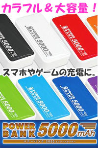���o�C���o�b�e���[ 5000mAh POWER BANK �p�[�v��